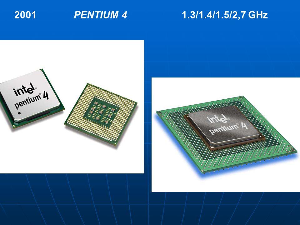 2001 PENTIUM 4 1.3/1.4/1.5/2,7 GHz