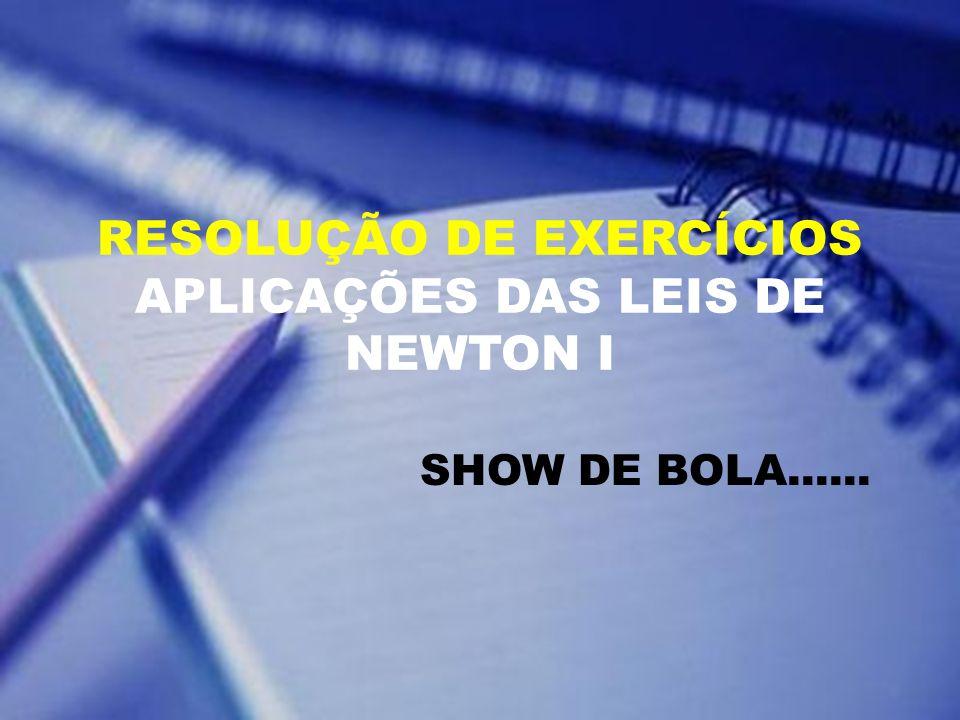 RESOLUÇÃO DE EXERCÍCIOS APLICAÇÕES DAS LEIS DE NEWTON I