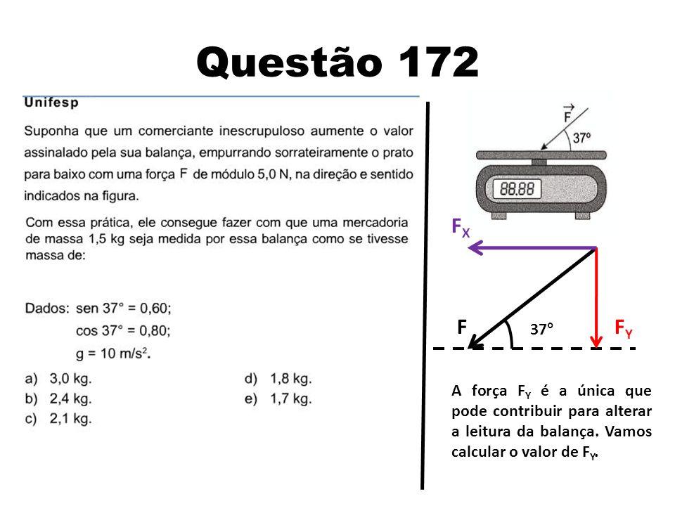 Questão 172 FX. F. FY.