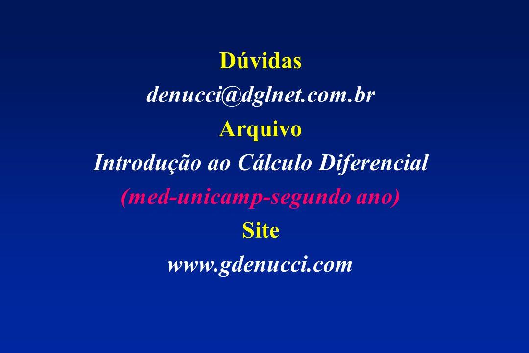 Introdução ao Cálculo Diferencial (med-unicamp-segundo ano)