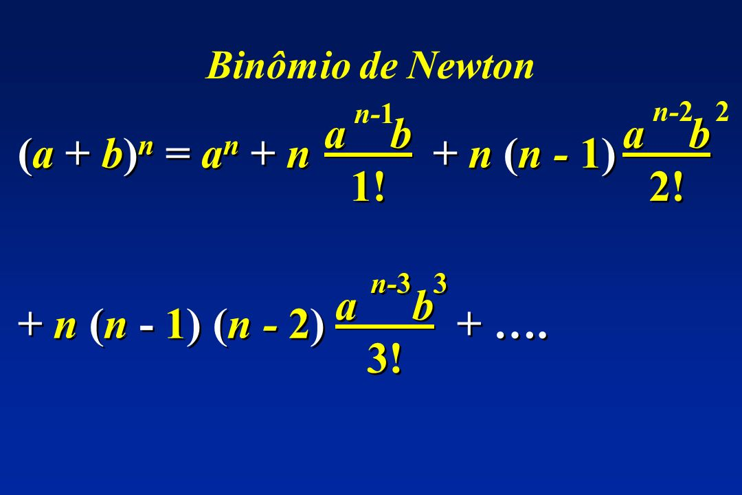 a b 1! n-1 a b 2! n-2 2 (a + b)n = an + n + n (n - 1)
