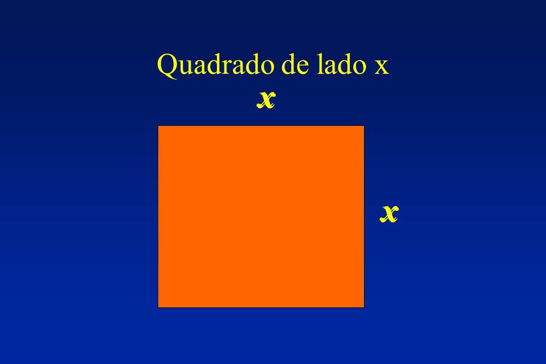Quadrado de lado x x x