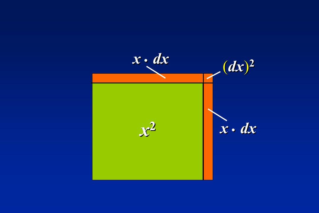 x . dx (dx)2 x2 x . dx