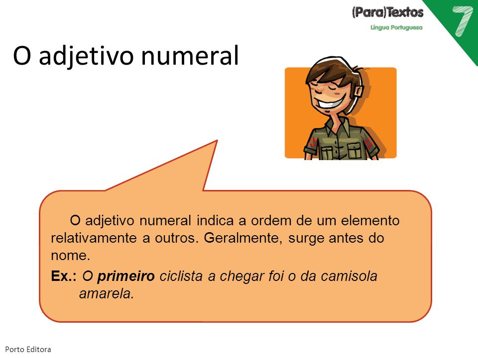 O adjetivo numeral