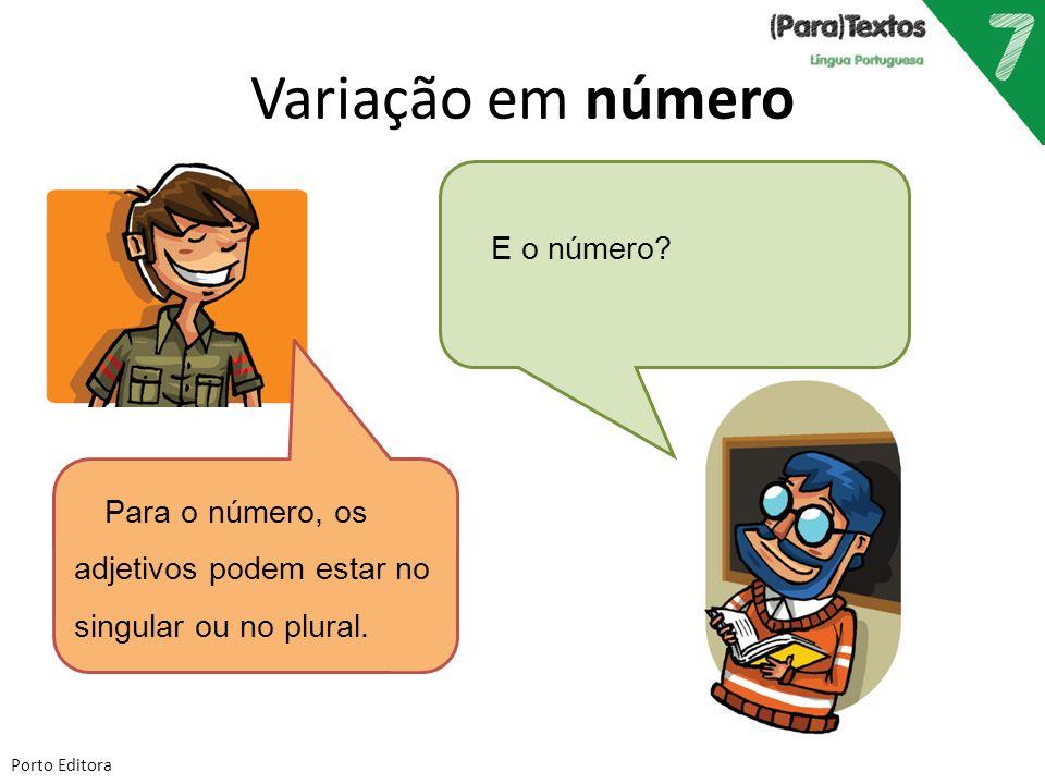 Variação em número E o número