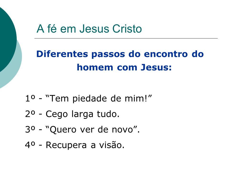 Diferentes passos do encontro do homem com Jesus: