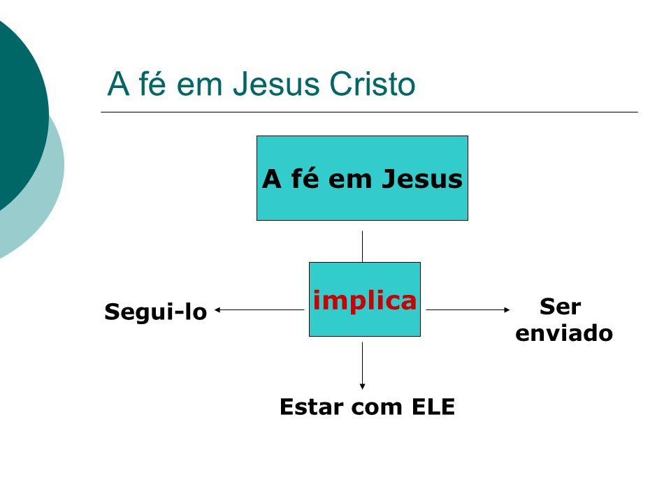 A fé em Jesus Cristo A fé em Jesus implica Ser Segui-lo enviado