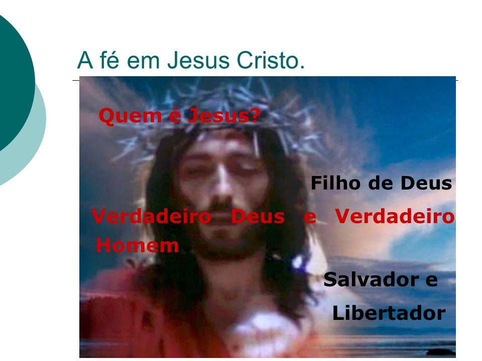 A fé em Jesus Cristo. Quem é Jesus Filho de Deus