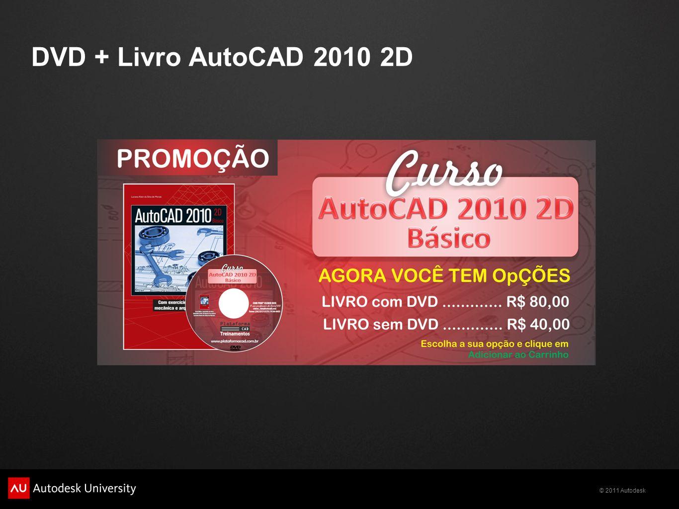DVD + Livro AutoCAD 2010 2D