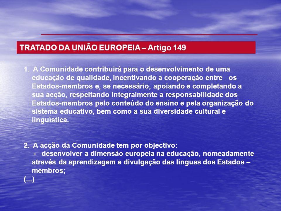 TRATADO DA UNIÃO EUROPEIA – Artigo 149