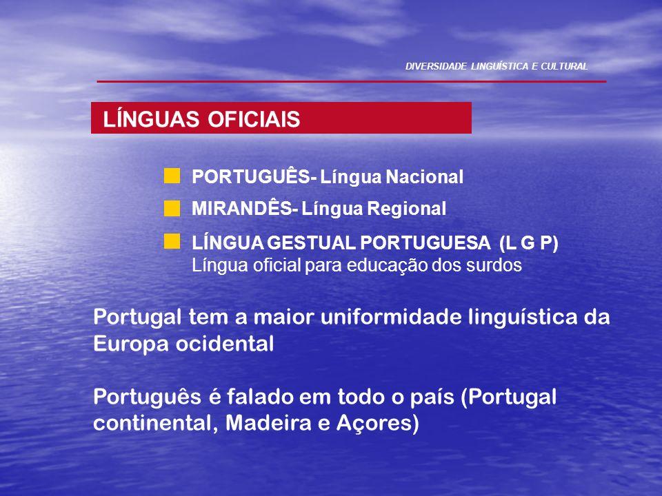 Portugal tem a maior uniformidade linguística da Europa ocidental