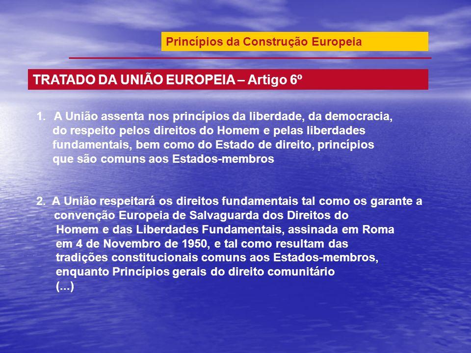 TRATADO DA UNIÃO EUROPEIA – Artigo 6º