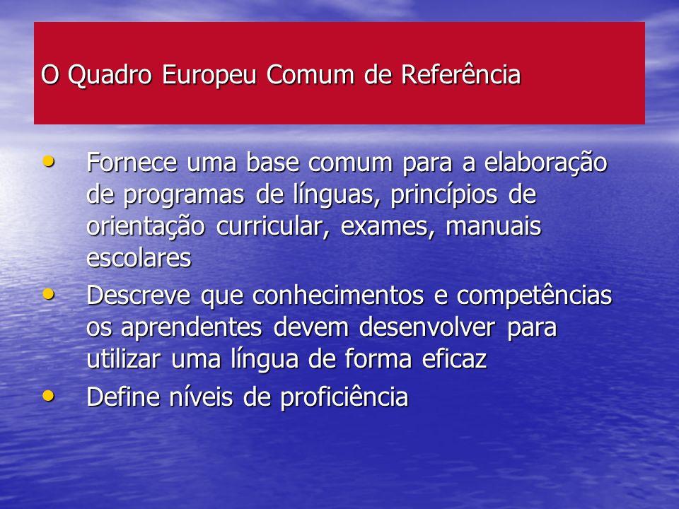 O Quadro Europeu Comum de Referência