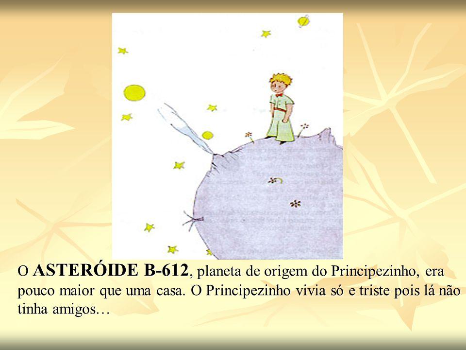 O ASTERÓIDE B-612, planeta de origem do Principezinho, era pouco maior que uma casa.