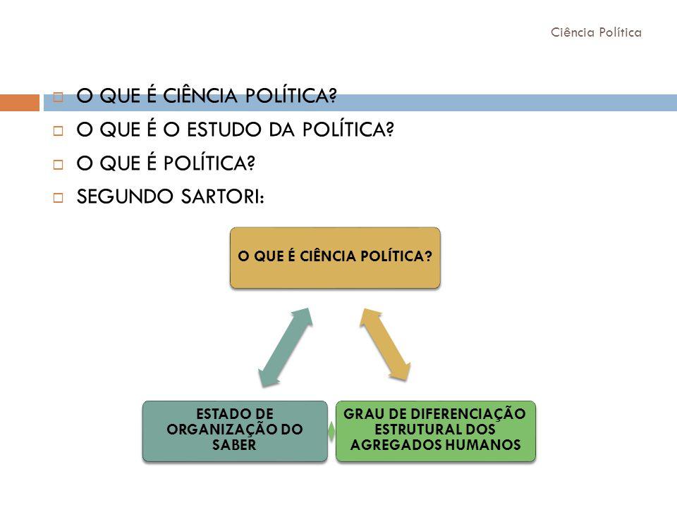 O QUE É CIÊNCIA POLÍTICA O QUE É O ESTUDO DA POLÍTICA