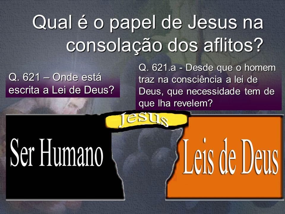 Qual é o papel de Jesus na consolação dos aflitos