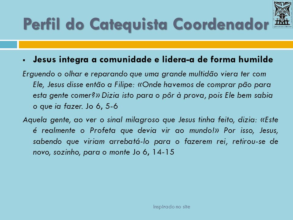 Perfil do Catequista Coordenador