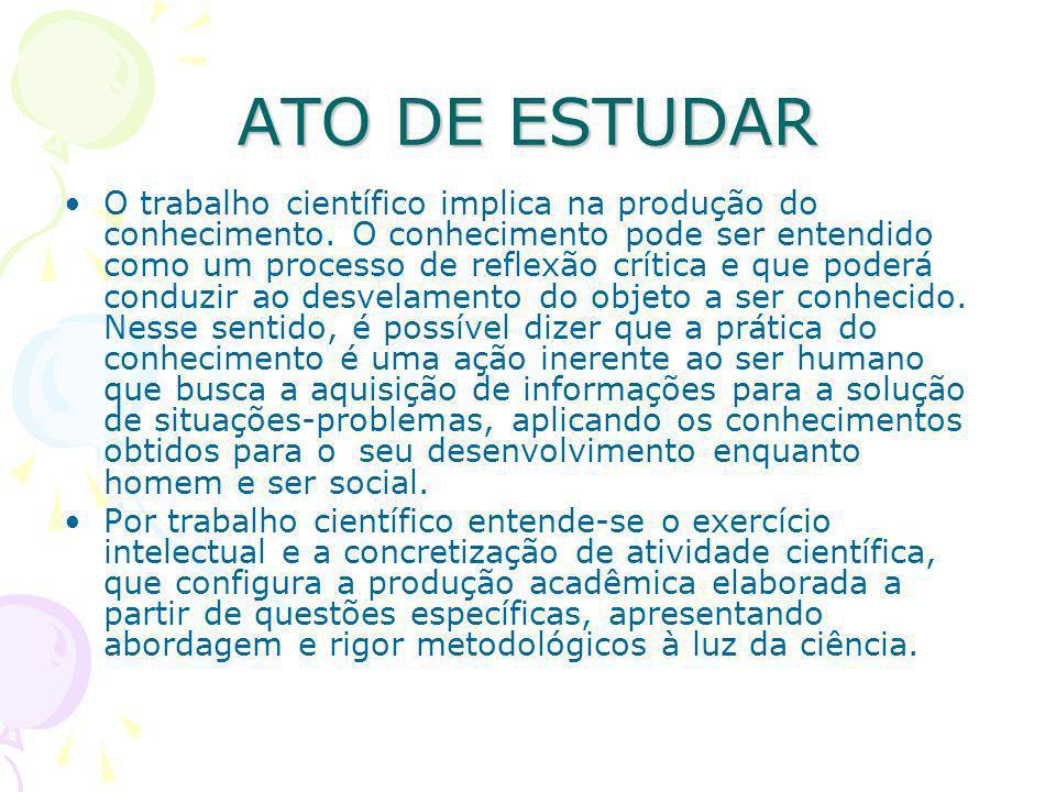 ATO DE ESTUDAR