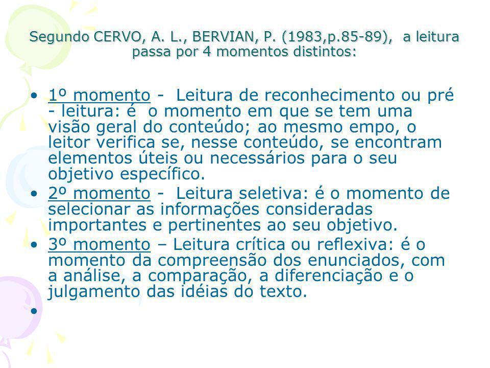Segundo CERVO, A. L. , BERVIAN, P. (1983,p