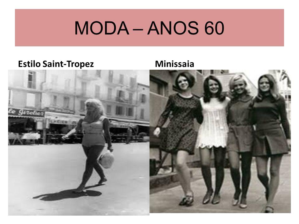 MODA – ANOS 60 Estilo Saint-Tropez Minissaia