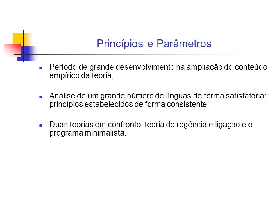 Princípios e Parâmetros