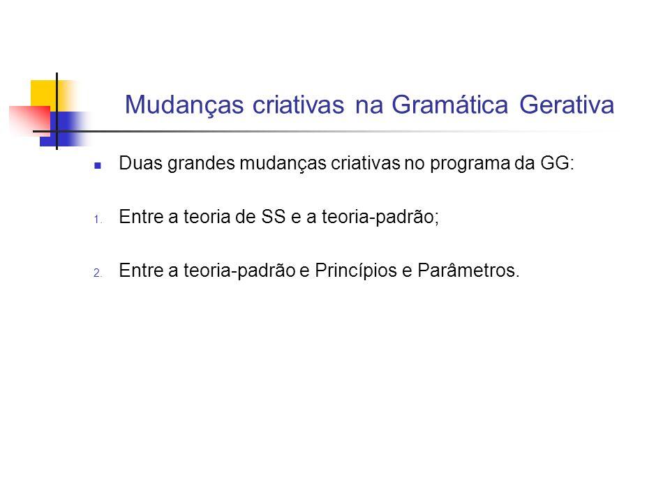 Mudanças criativas na Gramática Gerativa