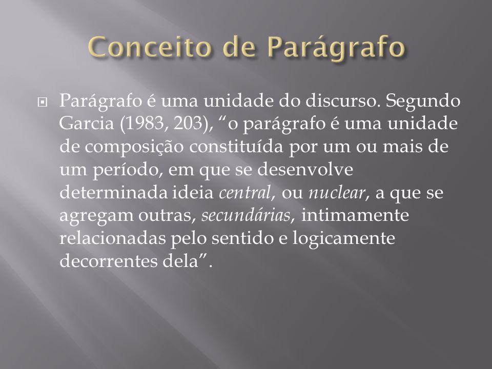 Conceito de Parágrafo