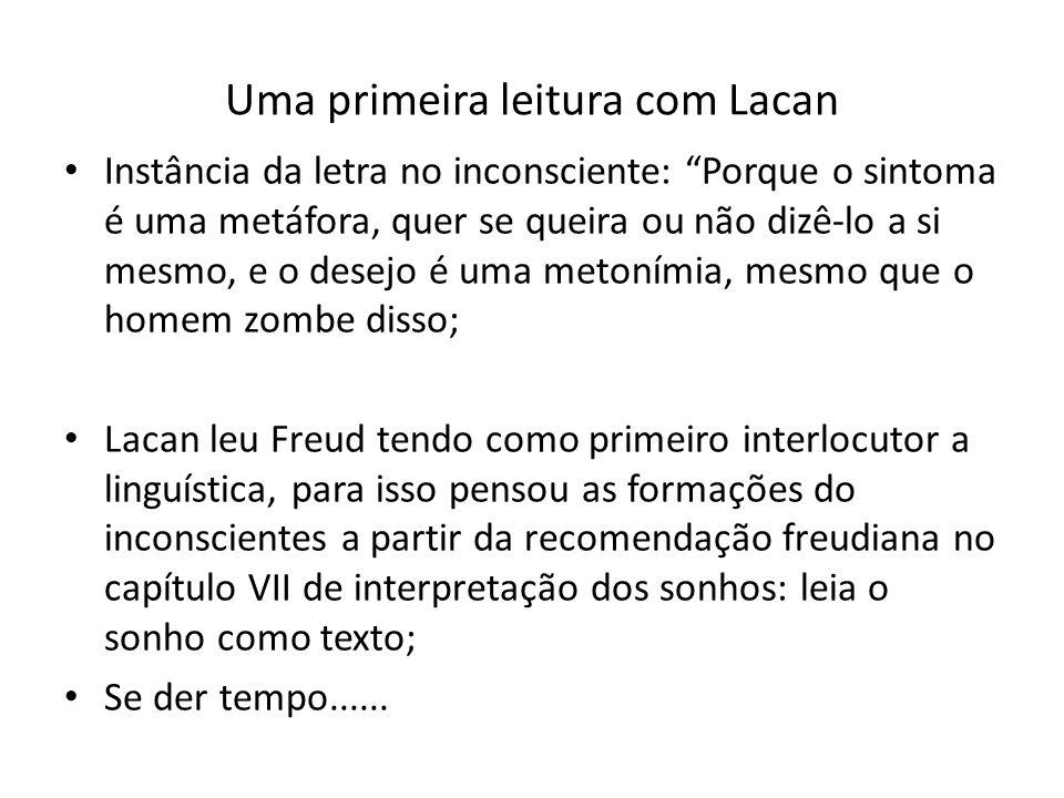Uma primeira leitura com Lacan