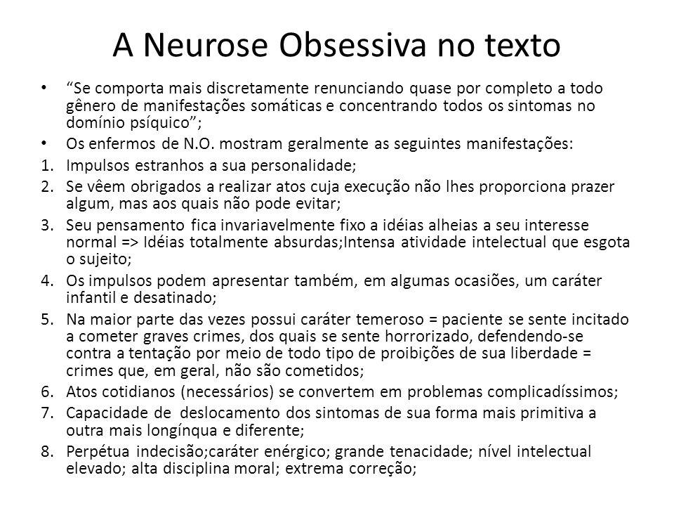 A Neurose Obsessiva no texto