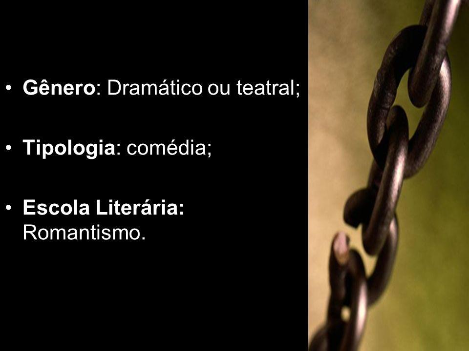 Gênero: Dramático ou teatral;