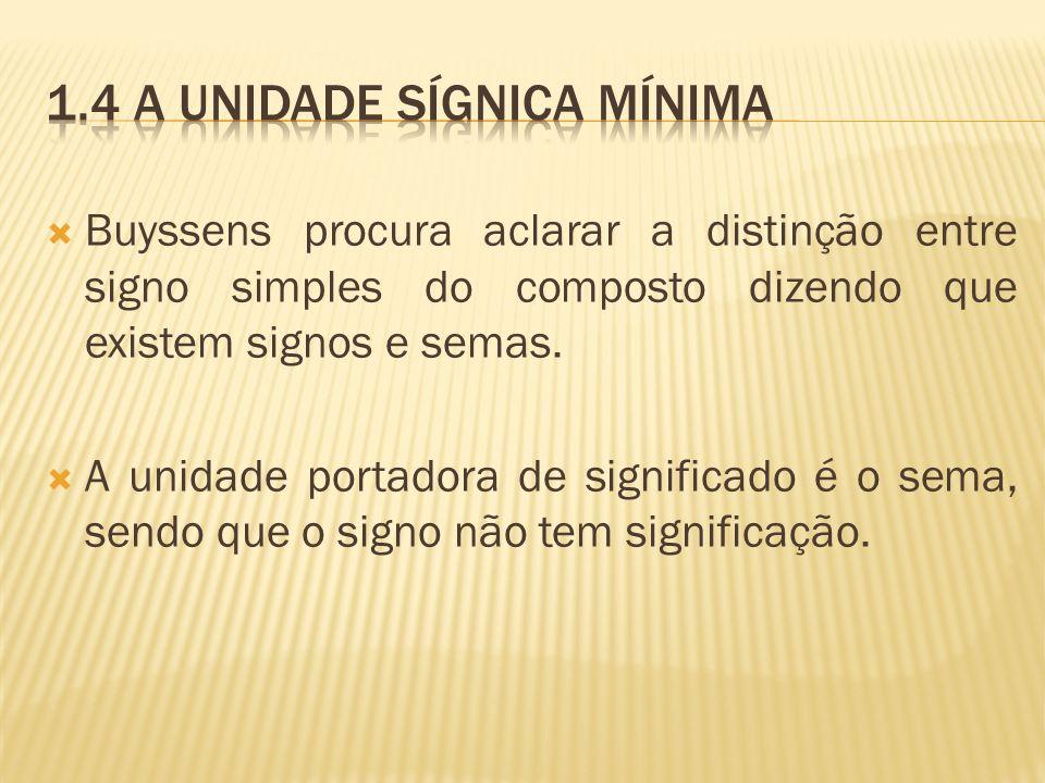 1.4 A unidade sígnica mínima