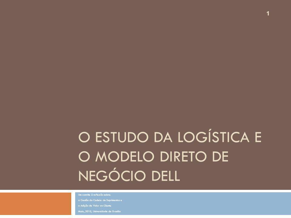 O estudo da logística e o modelo direto de negócio DELL