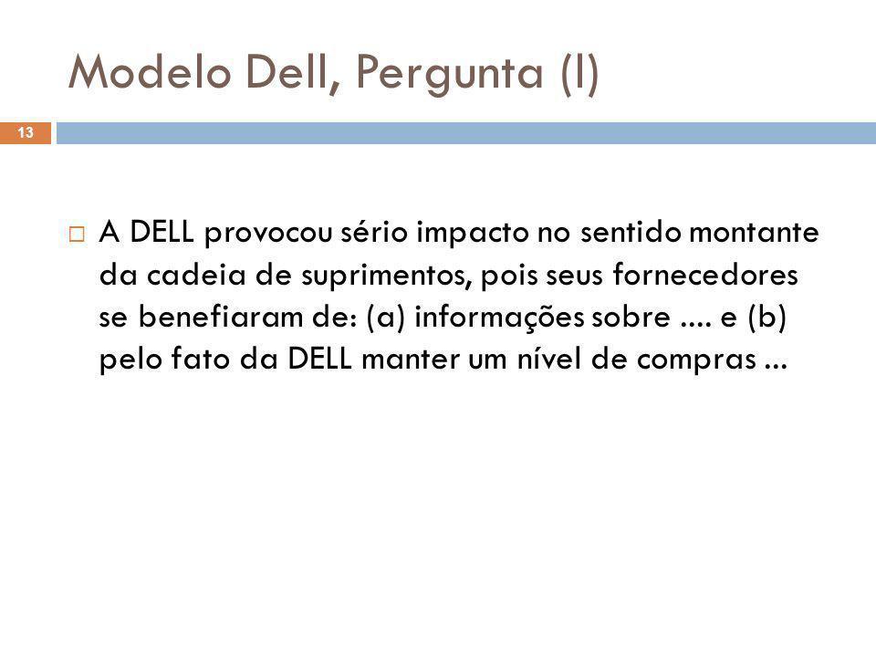 Modelo Dell, Pergunta (l)