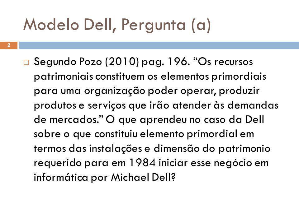 Modelo Dell, Pergunta (a)
