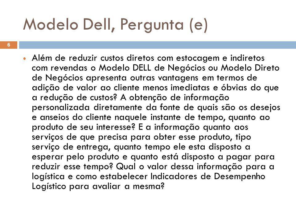 Modelo Dell, Pergunta (e)