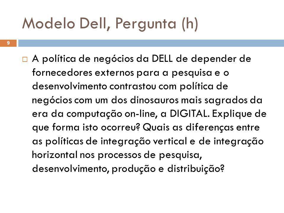 Modelo Dell, Pergunta (h)