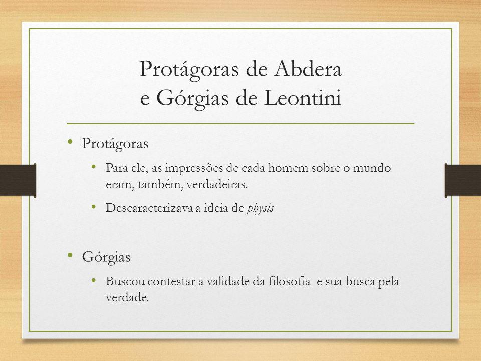 Protágoras de Abdera e Górgias de Leontini
