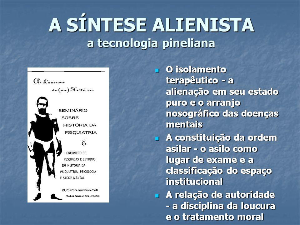 A SÍNTESE ALIENISTA a tecnologia pineliana