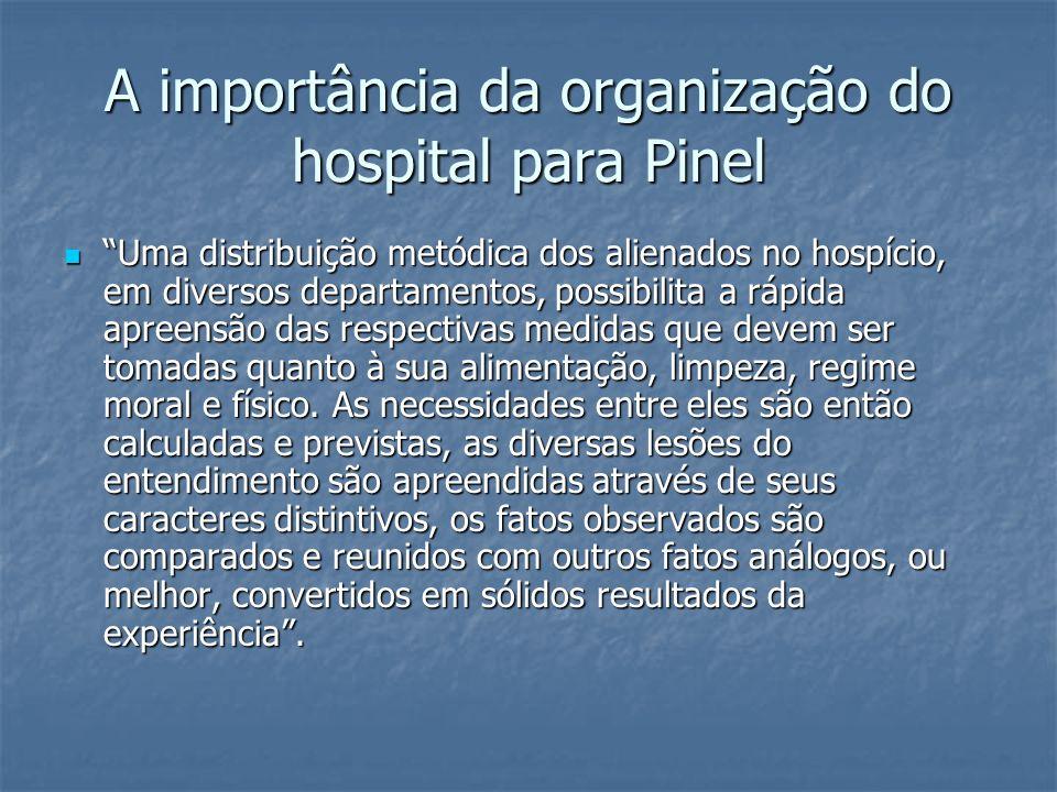 A importância da organização do hospital para Pinel