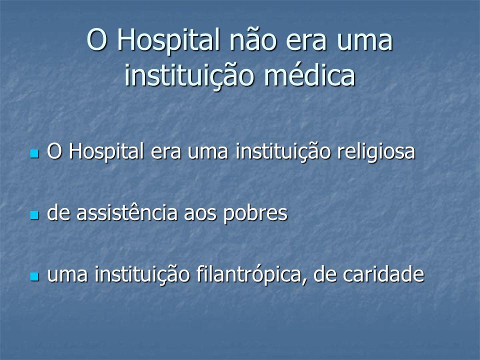 O Hospital não era uma instituição médica