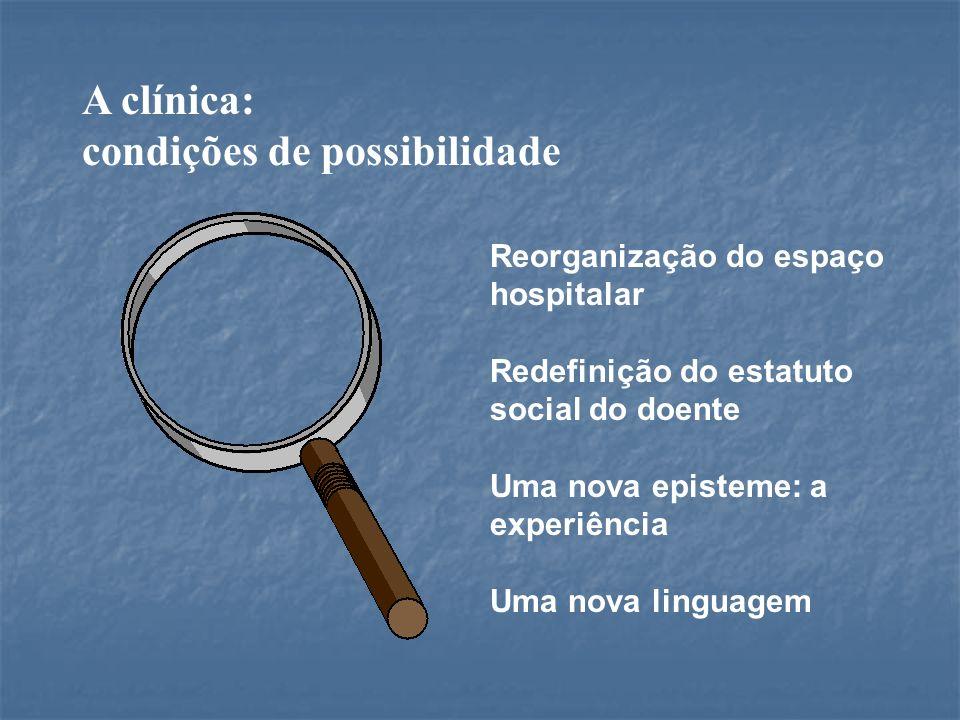 A clínica: condições de possibilidade