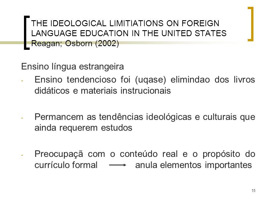 Ensino língua estrangeira
