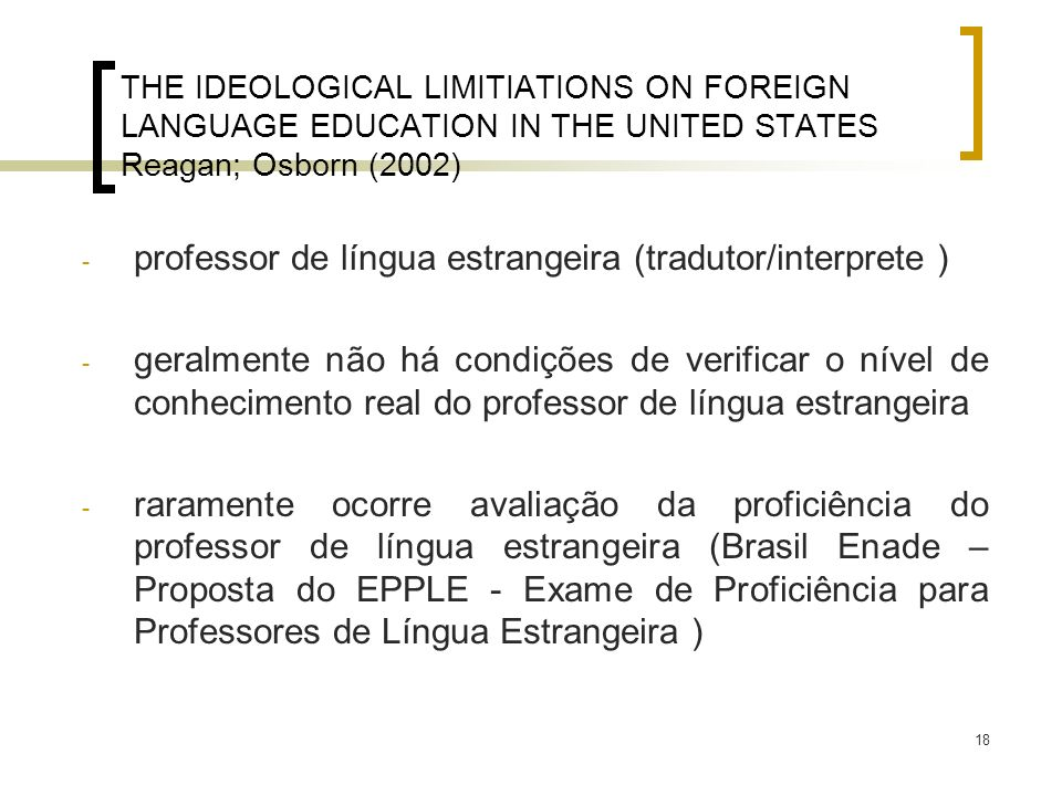professor de língua estrangeira (tradutor/interprete )