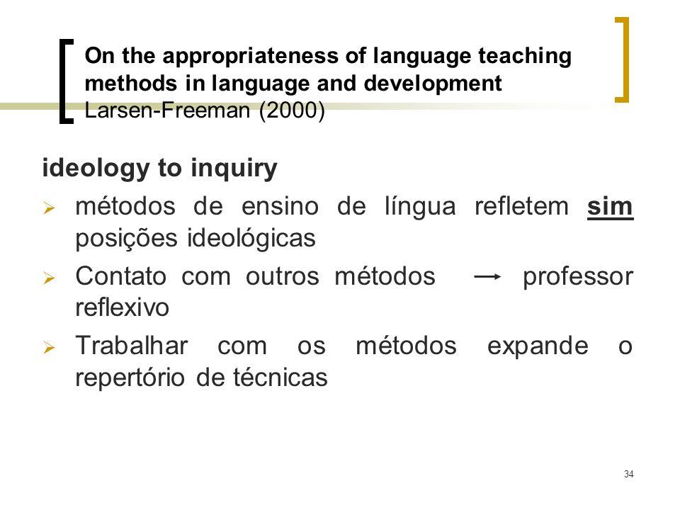 métodos de ensino de língua refletem sim posições ideológicas