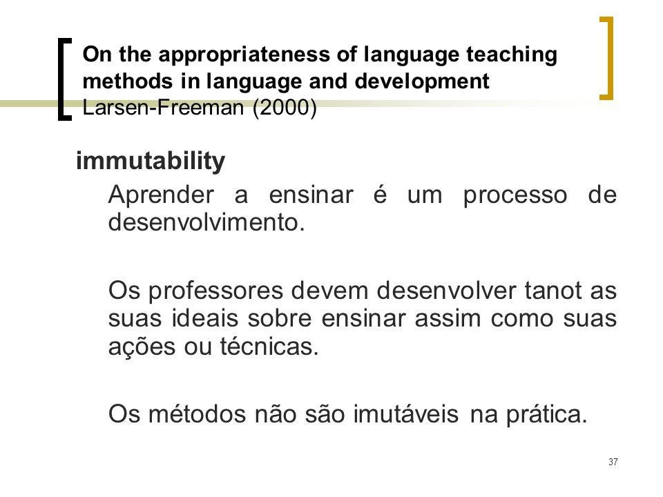Aprender a ensinar é um processo de desenvolvimento.