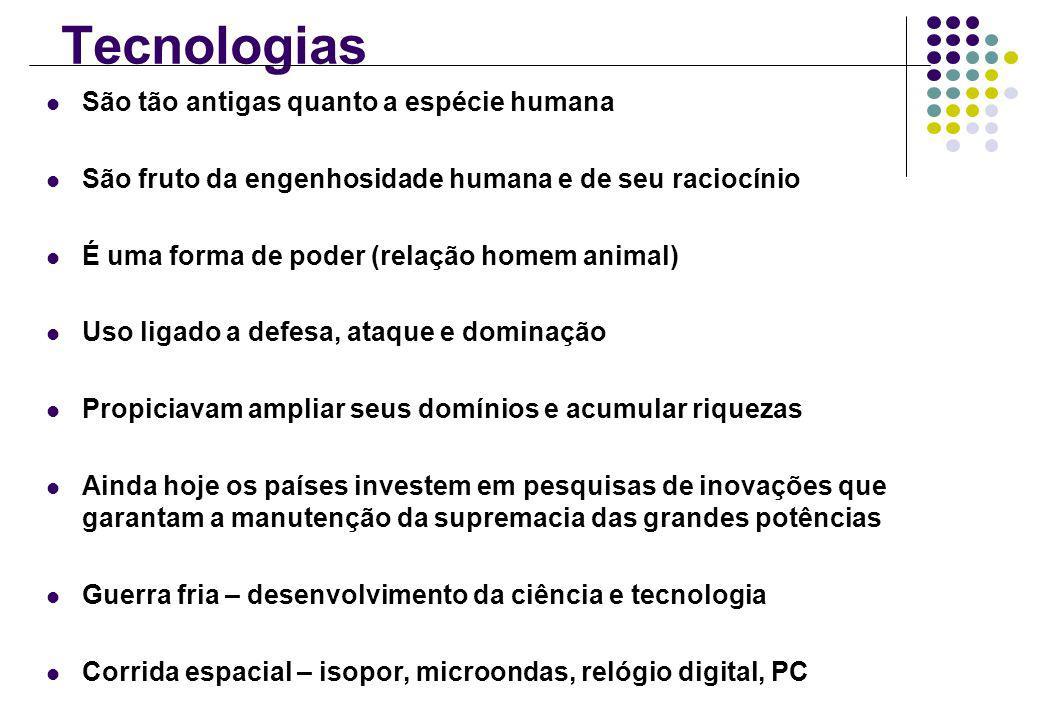 Tecnologias São tão antigas quanto a espécie humana
