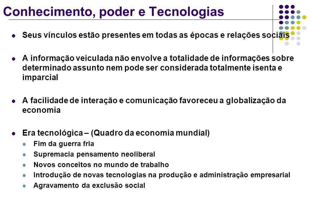 Conhecimento, poder e Tecnologias