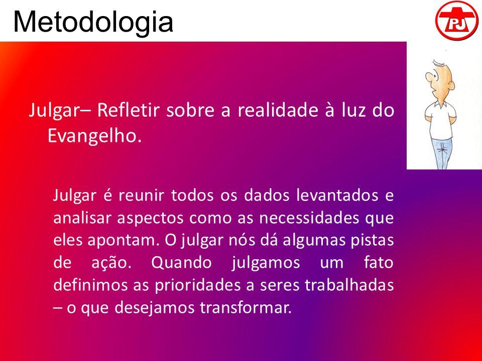 Metodologia Julgar– Refletir sobre a realidade à luz do Evangelho.