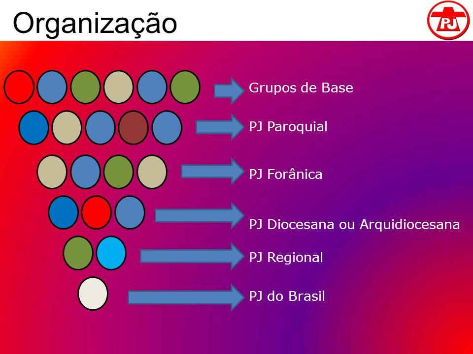 Organização Grupos de Base PJ Paroquial PJ Forânica