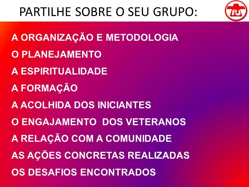 PARTILHE SOBRE O SEU GRUPO: